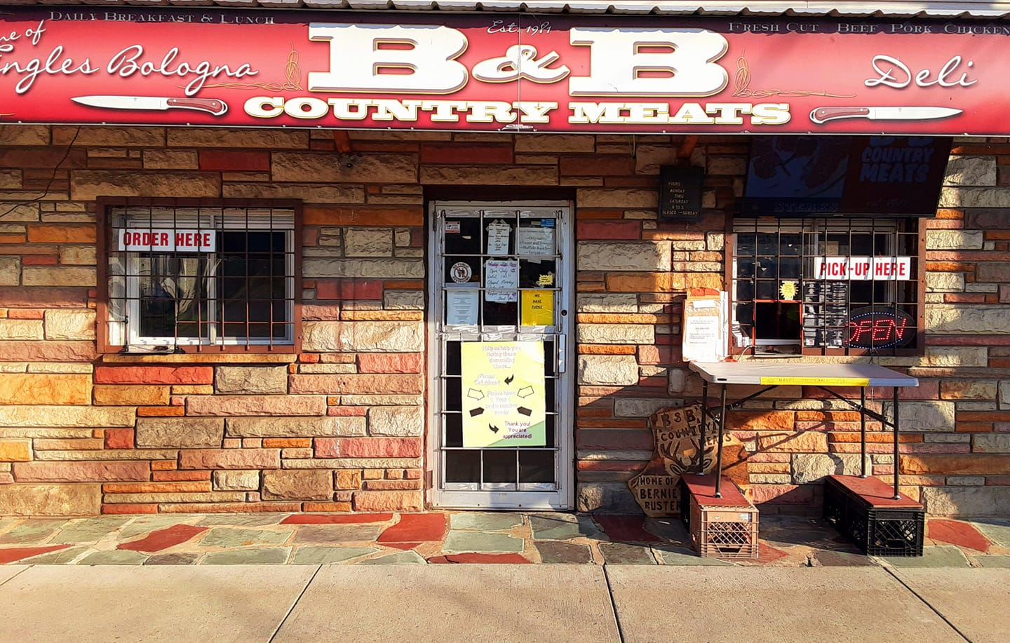 B&B Country Meats Store Front